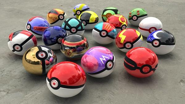 Pokemon,3D view 3d view pokemon poke balls 1600x900 wallpaper – 3D Wallpaper – Free Desktop Wallpaper