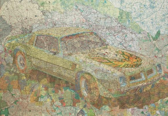Map Collages by Matthew Cusick | GBlog