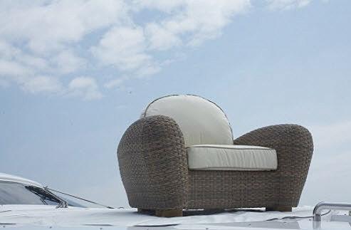 Contemporary garden armchair - KEYS - PERGAY JACQUES DIFFUSION