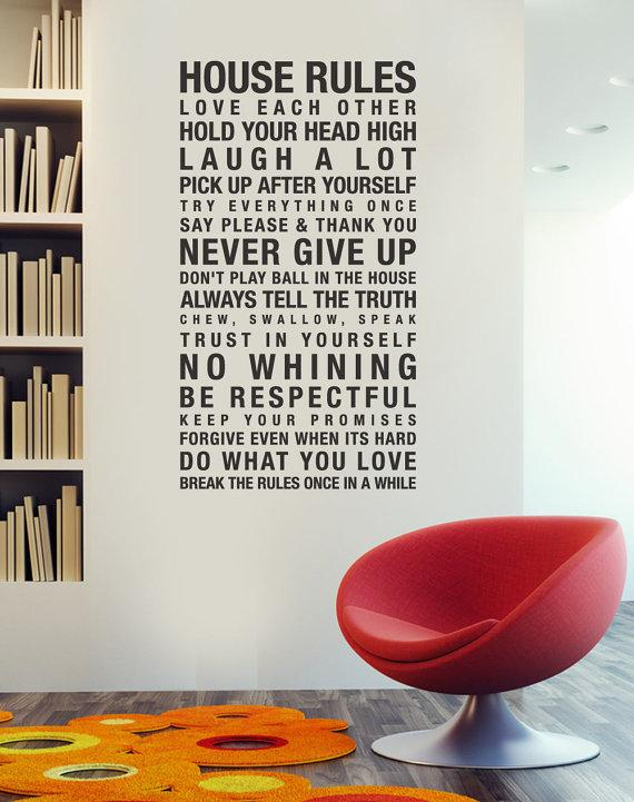 House Rules Vinyl Wall Stickers - My Modern Metropolis