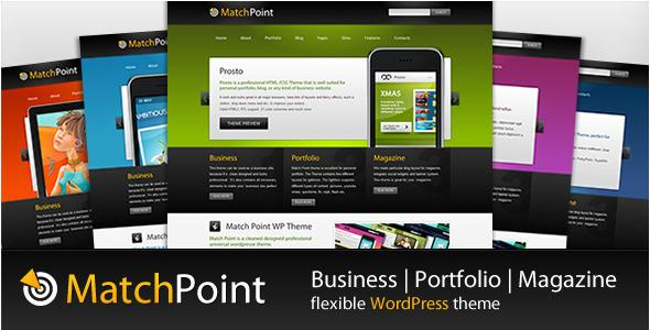 MatchPoint - Business, Portfolio, Magazine WordPress theme