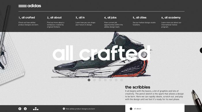 Adidas Design Studios | Awwwards | Site of the day