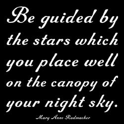 quotable-Radmacher: be guided by the stars