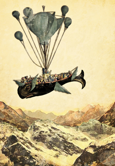 whale flight I Art Print by Heather Landis | Society6