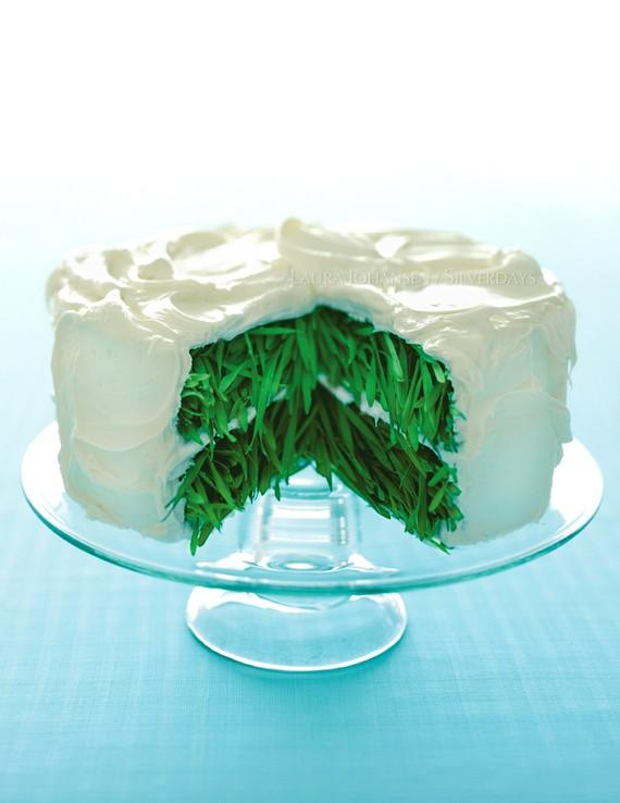 Grass Cake with Vanilla Frosting Fine Art Photograph by Bunderful