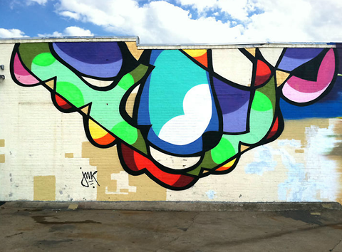 Colourful abstract street art by JMR — Lost At E Minor: For creative people