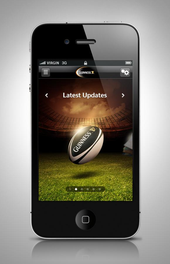 Guinness Rugby 2011 iPhone App