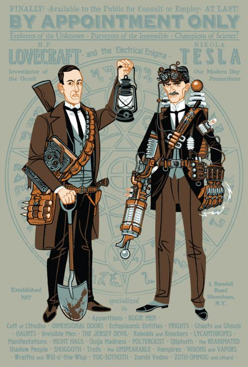Drawn - deantrippe: heyoscarwilde: H.P. Lovecraft and...