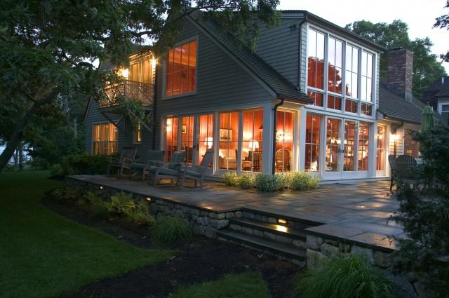 Martha's Vineyard Addition - Water Side Elevation - traditional - exterior - boston - by Frank Shirley Architects