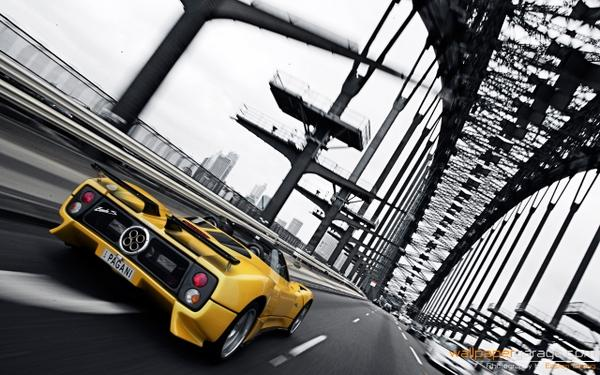 cars,bridges cars bridges pagani selective coloring 1280x800 wallpaper – Bridges Wallpaper – Free Desktop Wallpaper