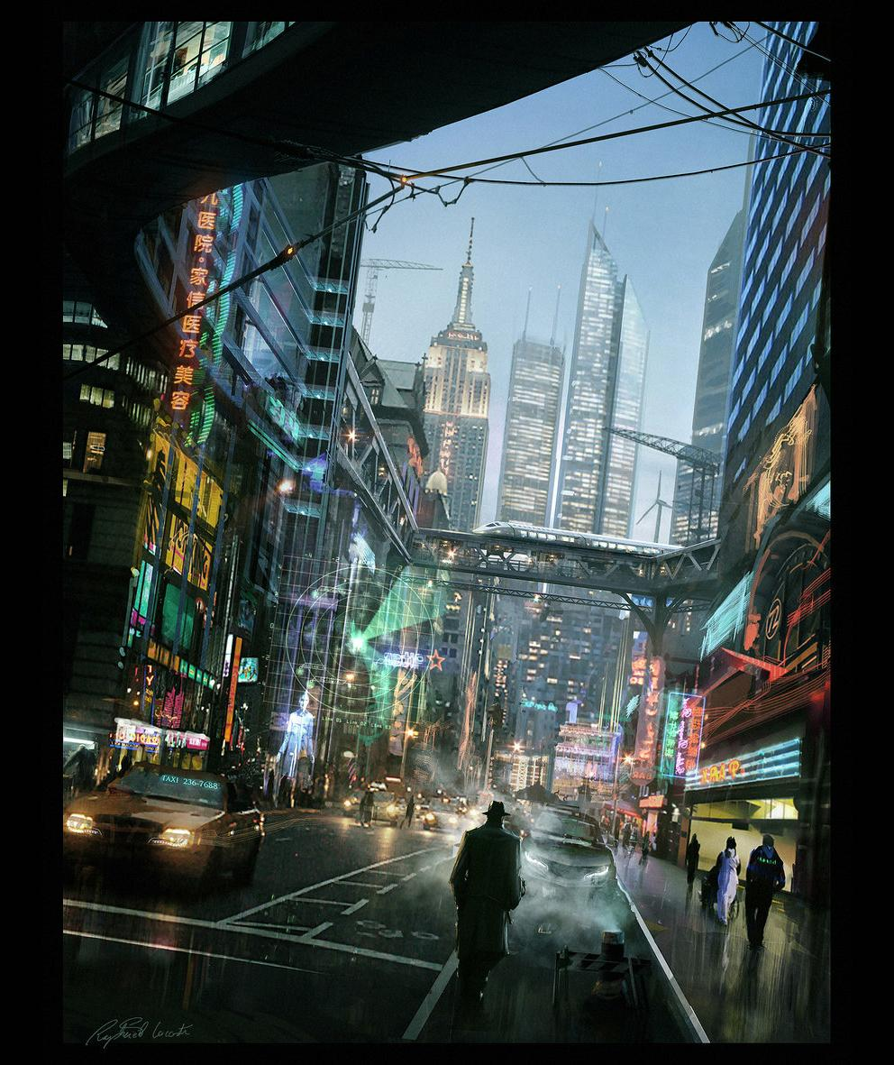 Concept Art: NYC 2025 - 2D Digital, Concept art, Illustrations, Photoshop