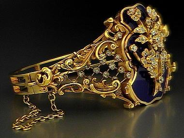 romanov_russia_ltd._faberge_gold_bangle_bracelet_12355572537210.jpg (380×285)