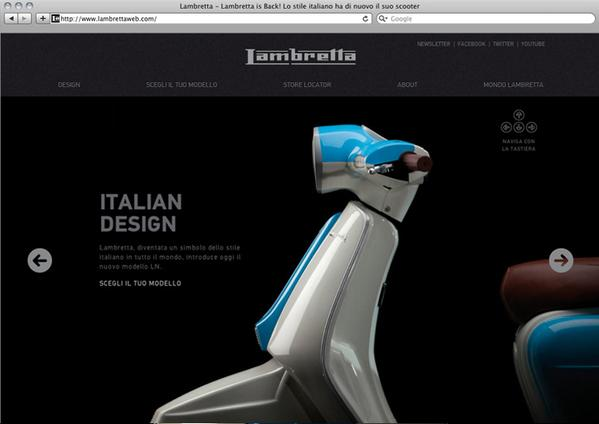 lambrettaweb.com on Web Design Served