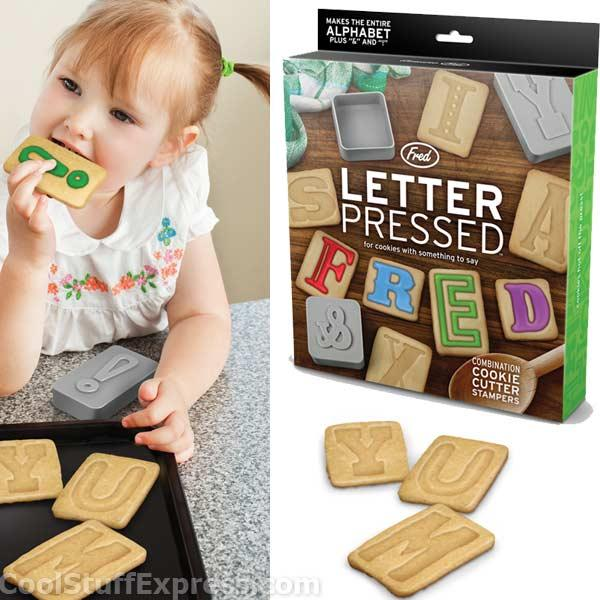 Letter Pressed Alphabet Cookie Cutters