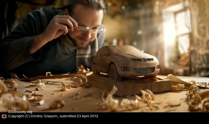 CGTalk - Woodworker - Mazda CX7, Dmitriy Glazyrin