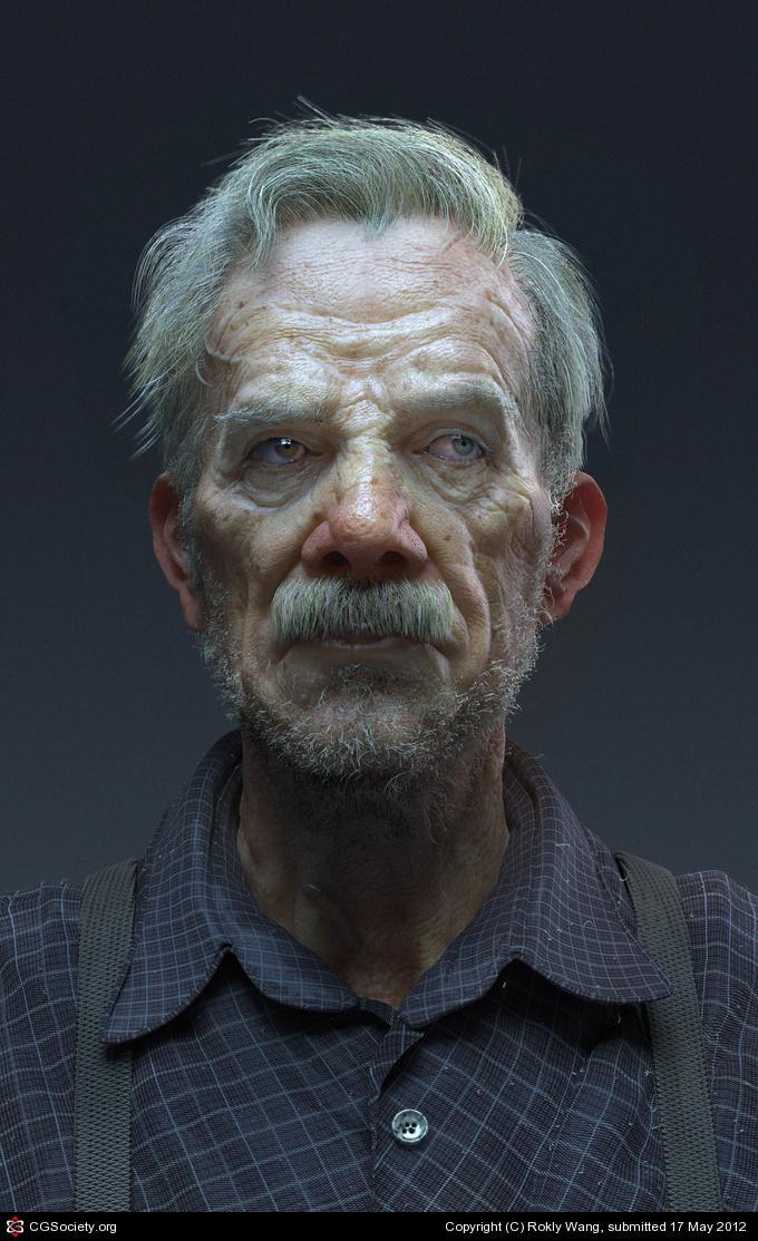 CGTalk - an elderly curmudgeon, Rokly Wang