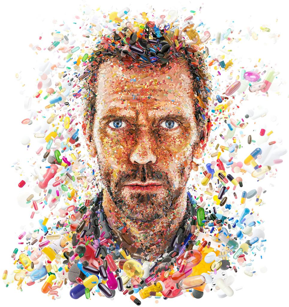 Hugh Laurie: The House ...of pills (for TV Guide) | Flickr - Photo Sharing!