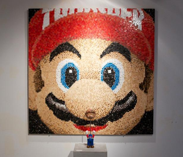 .tiff: Mario Mosaic and more crafted from recycled skate decks