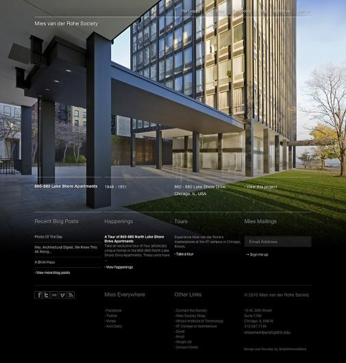 Designspiration — Mies van der Rohe Society Website | Gridness