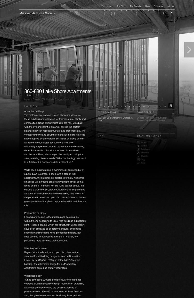 Mies van der Rohe Society Website | Gridness