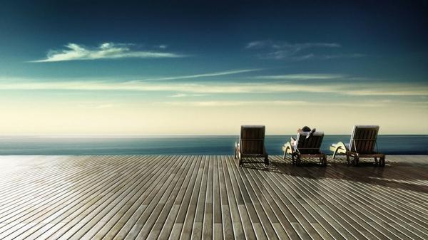ocean,Sun ocean sun relaxing chairs 1920x1080 wallpaper – Oceans Wallpaper – Free Desktop Wallpaper