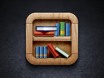 Bookshelf iOS Icon by James Cipriano