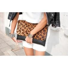 Alexander Wang Inspired Leopard Print Clutch - With Love Kirsten