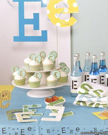 1st Birthday Party Ideas / Party Theme: Initial - Martha Stewart Entertaining