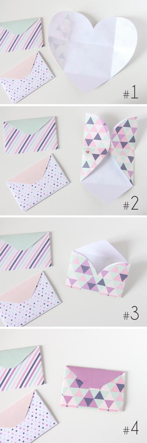 zü: DIY - Trio Enveloppes Cœur