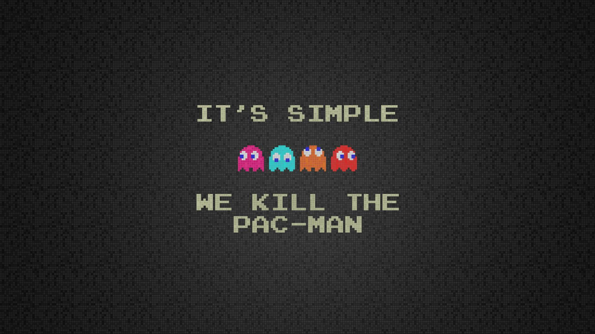 video games text humor cubes Pac-Man squares retro games pixel art kill - Wallpaper (#1776871) / Wallbase.cc