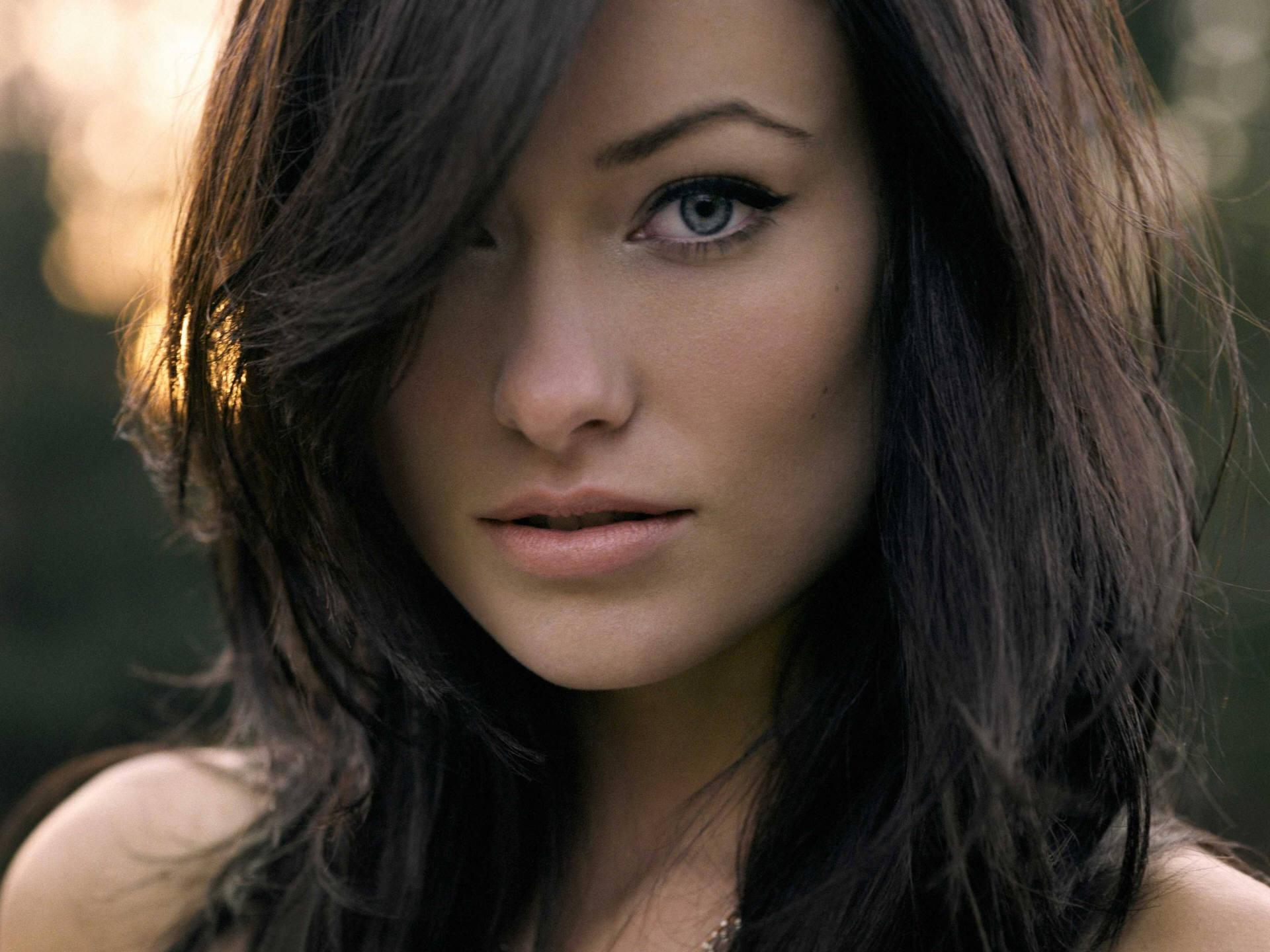 brunettes women actress Olivia Wilde celebrity faces - Wallpaper (#860924) / Wallbase.cc