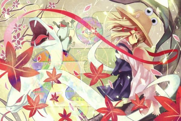 blondes,Touhou blondes touhou leaves hat snakes barefoot goddess frogs moriya suwako closed eyes 2000x1336 wallp – Frogs Wallpaper – Free Desktop Wallpaper