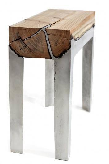 Designspiration — Wood Stools Cast in Aluminum   WANKEN - The Art & Design blog of Shelby White