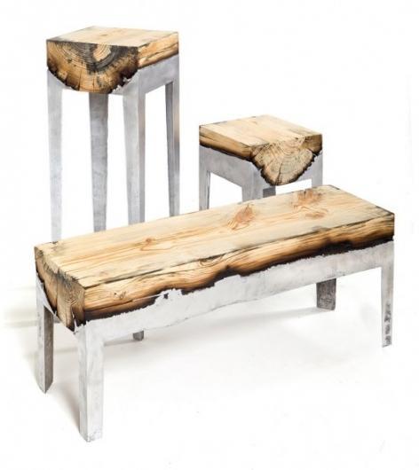 Designspiration — Wood Stools Cast in Aluminum | WANKEN - The Art & Design blog of Shelby White