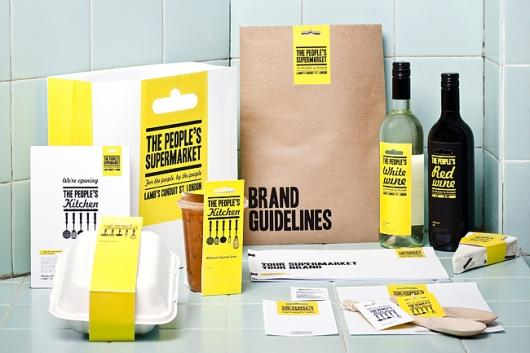Designspiration — The People's Supermarket | Identity Designed
