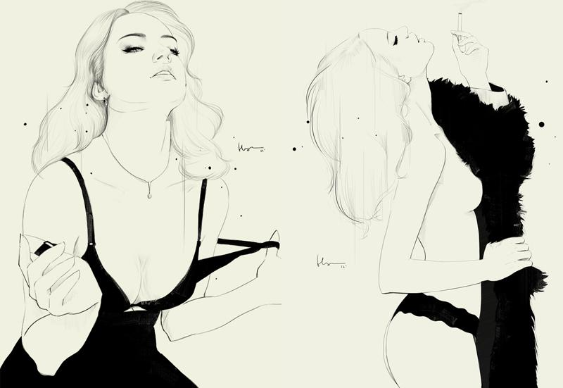 Looks like good Fashion Illustrations by Floyd Grey