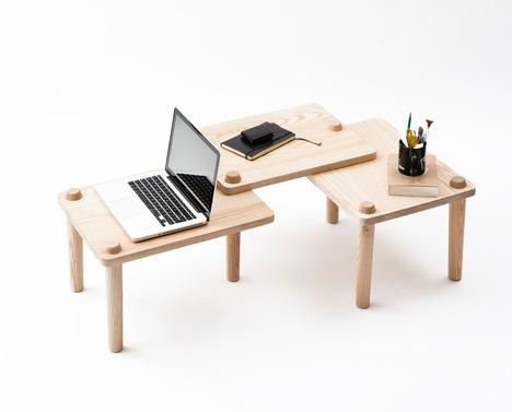 Repeat Bench and Occasional Table by Diane Steverlynck