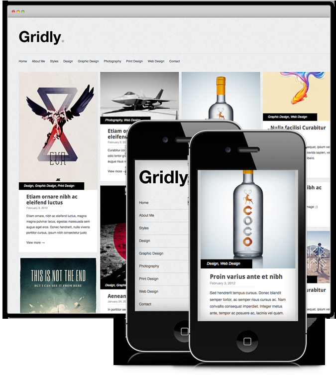 Gridly : Free WordPress Portfolio Theme