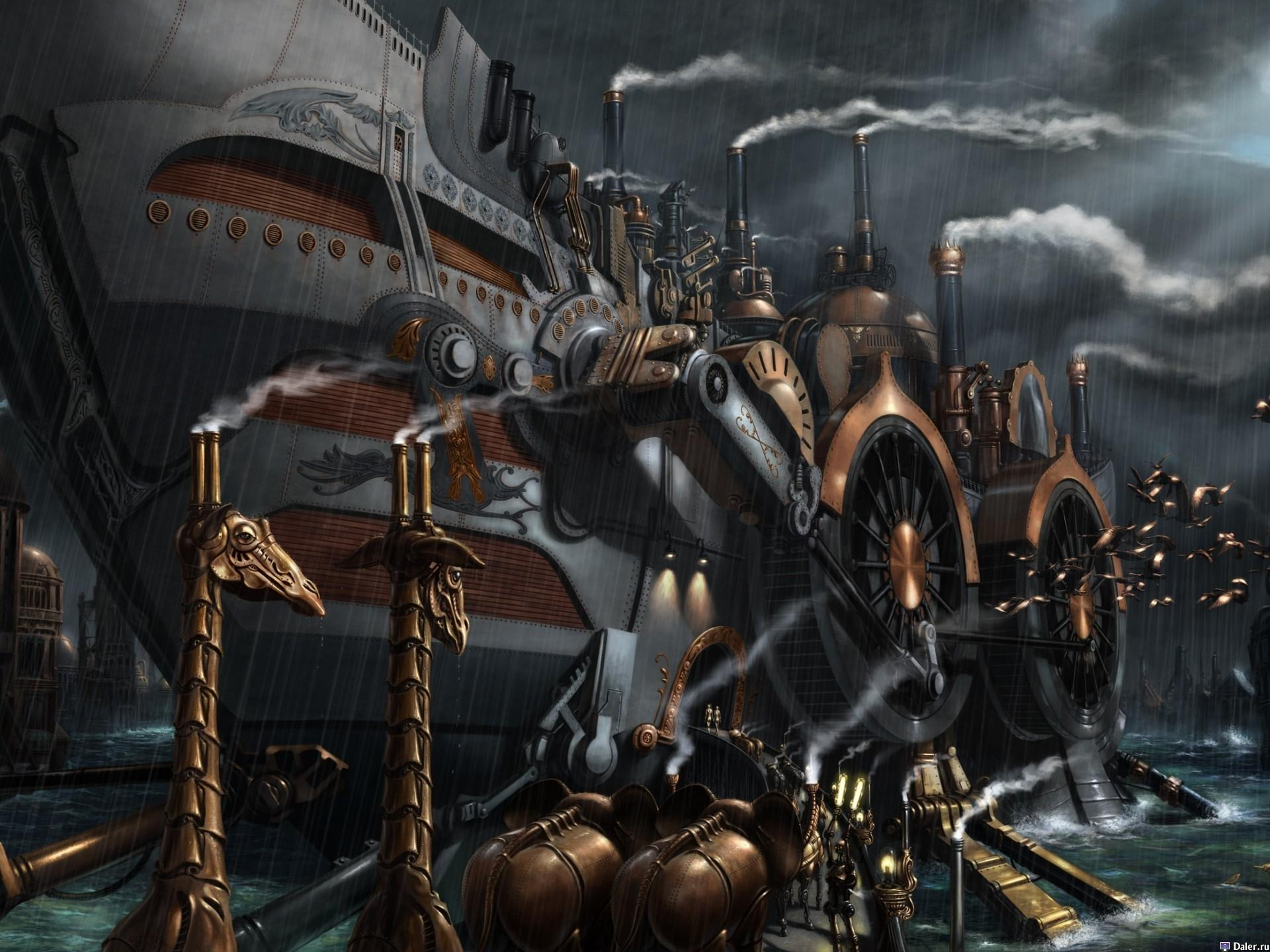 Download Wallpapers, Download 1920x1440 steampunk ships bernard digital art 1920x1440 wallpaper Wallpaper –Free Wallpapers Download