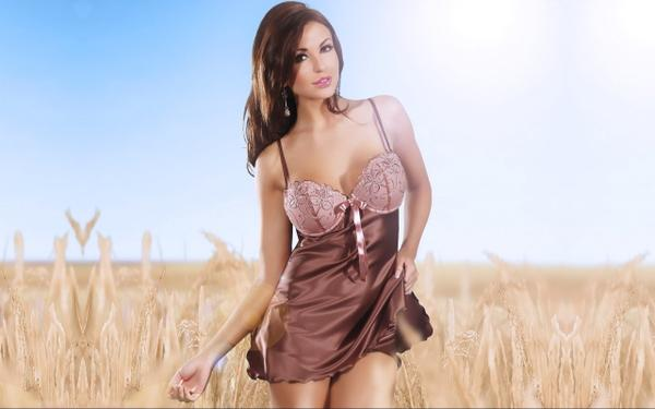 women,brunettes brunettes women sun dress fields wheat monika pietrasinska faces monika pietrasinska boccara 2560 – Fields Wallpaper – Free Desktop Wallpaper
