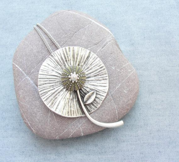 Sea Urchin Collection Green Organic Flower by StaroftheEast