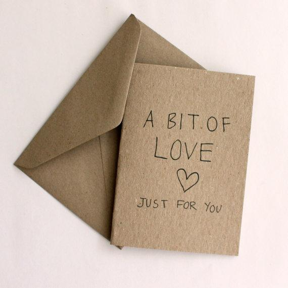 A little bit of love just for you card by tdesignstore on Etsy