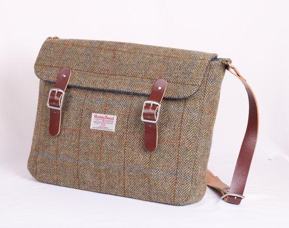 Harris Tweed Finlay Satchel by breagha on Etsy