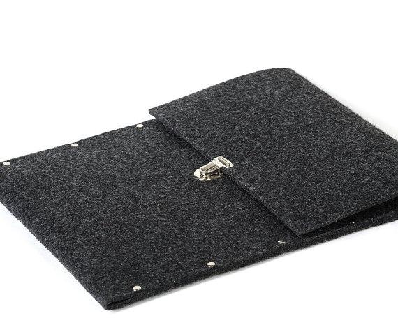 MacBook 13 Air sleeve cover grey industrial felt by SleeWay