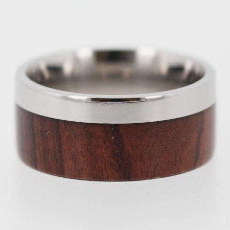 Titanium and Wood wedding ring / Ironwood Wood by jewelrybyjohan