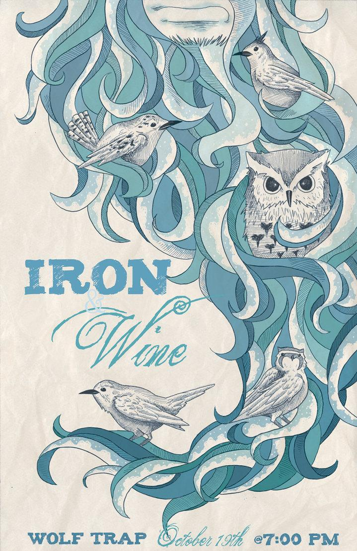 Iron_and_Wine_poster_color_by_jessisamess.jpg (719×1111)