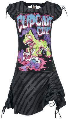 My Zombie Pony - Abito by Cupcake Cult - Codice articolo: 225843 - da 39,99 € - EMP Mailorder Italia ::: La vendita per corrispondenza on line Rock Metal Punk: T-shirts, CD, DVD, Poster, abbigliamento e merchandise ufficiale