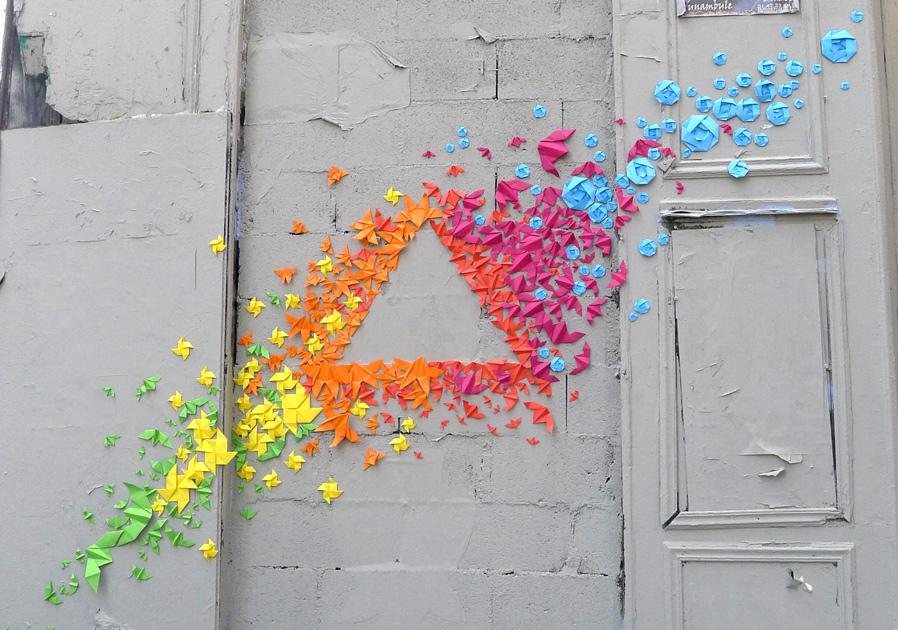 Japanese Origami Street Art | Daily Inspiration
