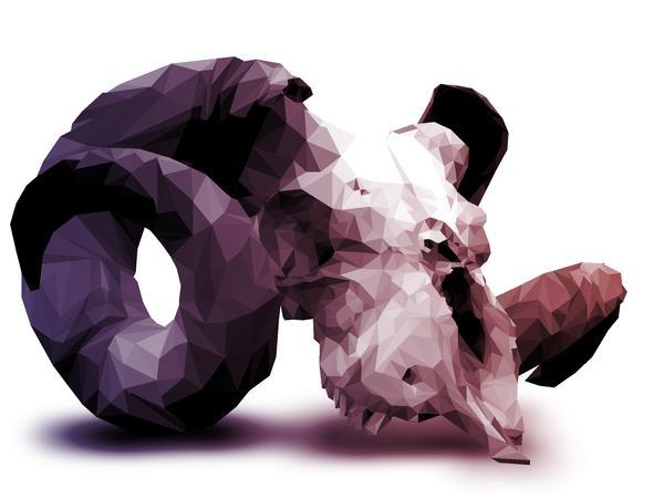 Halftone Polygons on Digital Art Served