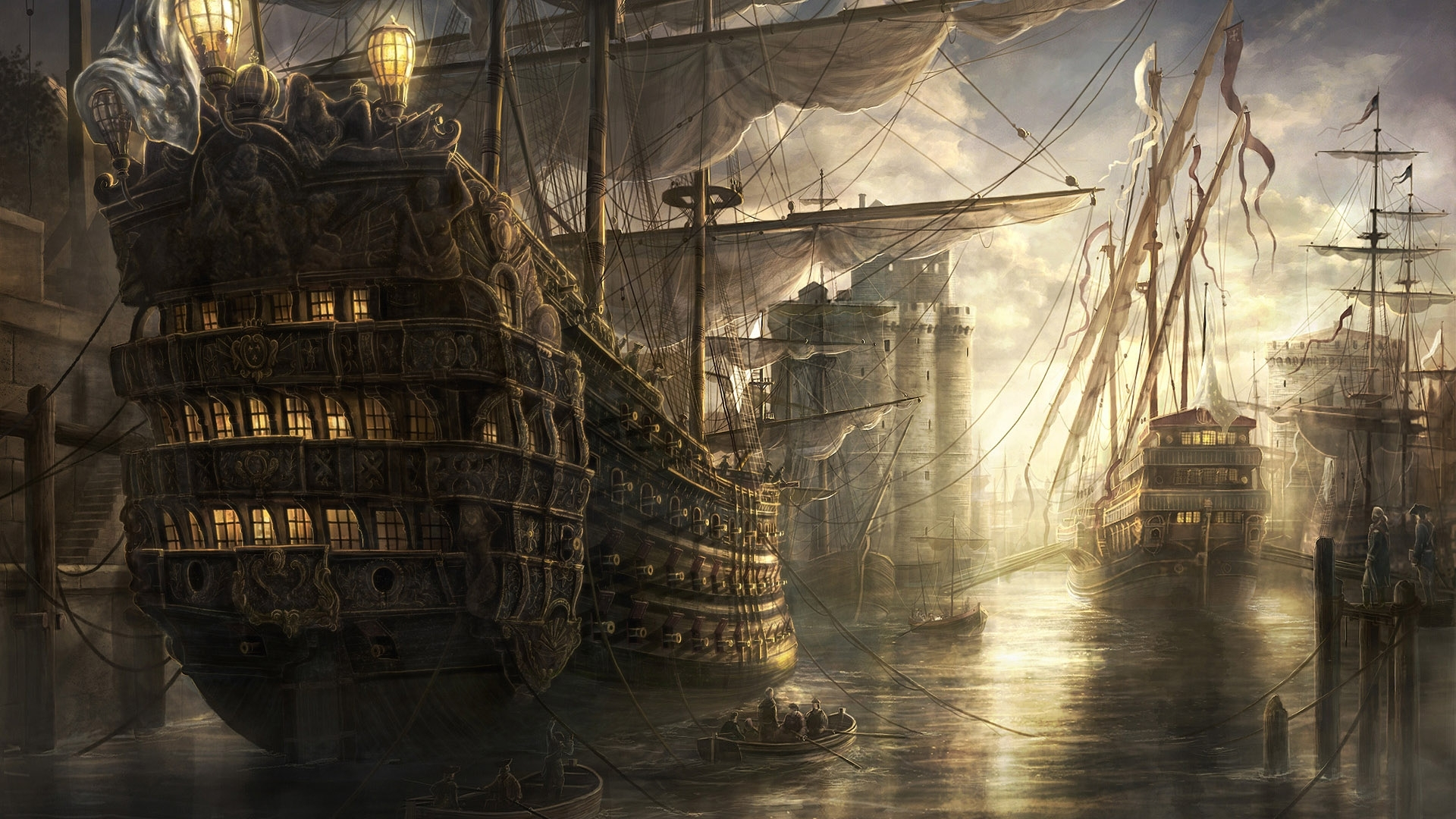 Download Wallpapers, Download 1920x1080 ship ships artwork drawings empire total war 1920x1080 wallpaper Wallpaper –Free Wallpapers Download